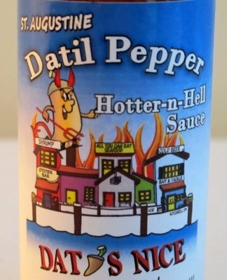 Datil Pepper Hotter-n-Hell Sauce