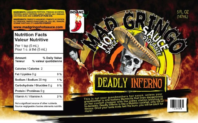 Mad Gringo Hot Sauce - Deadly Inferno