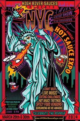 2014 NYC Hot Sauce Expo poster