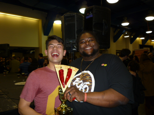 Winner Jeffrey Tamaru and runner-up Big Mike Tullui