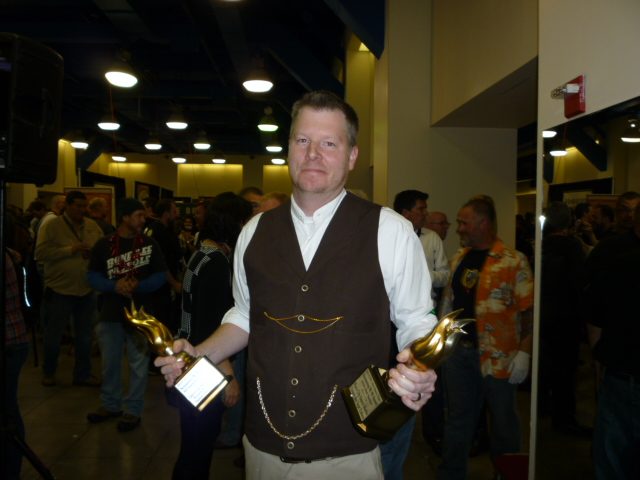 Chad of RCSW shows off his 2 trophies