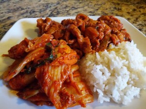 Bill Moore's Pork Bulgogi, Kimchi and Rice