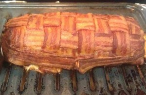 Zach Ardagna's Bacon wrapped meatcake